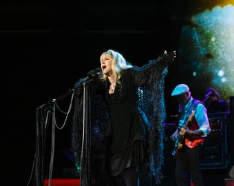 Black Stevie Nicks Scarf w/ Silver Stevie Nicks Shawl Verified Designer Celeste Crickets Meyeres CricketsKnits Accessories Stevie Nicks Gift