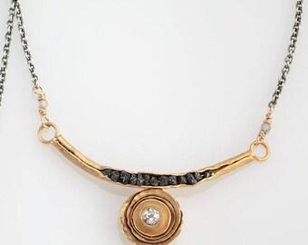 Birch Groove Necklace in Vermeil