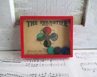 Vintage The Turnstile Puzzle - Puzzle Picture - R. Journey & Co., London, England