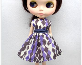 LADYBIRD HOUSE Blythe Outfit Retro Dress - Purple