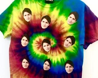 Rainbow Tie Dye Justin Trudeau T-Shirt
