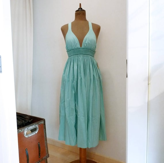 Gal.la Dress in Turquoise nO.045 - Size L, 10-12 US/Canada