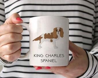 King Charles Spaniel Coffee Mug - King Charles Spaniel Ceramic Mug  - Dog Mug - King Charles Spaniel Lover Gift - Cavalier Coffee Mug