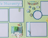 12x12 Scrapbook Pages premade -- BABY'S NURSERY -- baby boy's room