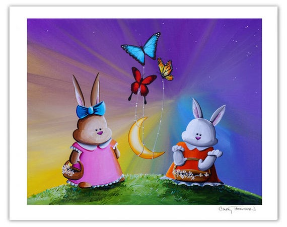 Animals & Whimsy Limited Edition - Rise Of The Tiny Moon - Signed 8x10 Semi Gloss Print (1/10)