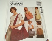 McCall's Fashion Accessories Carry On Bag Pattern 8705 Totes, Carry All, Sling Bag, Backpack, Messenger Bag, And A Shoulder Bag