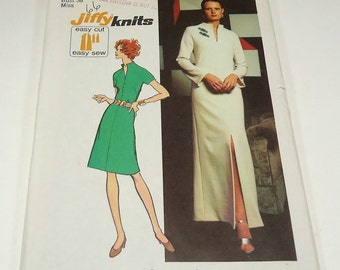 Simplicity Miss Petites' And Misses' Jiffy Knit Dress In Two Lengths Pattern 5320 Size 16 Stretch Knits Only