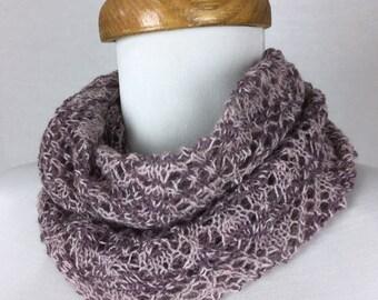 Lace Cowl/Infinity Scarf Alpaca Silk