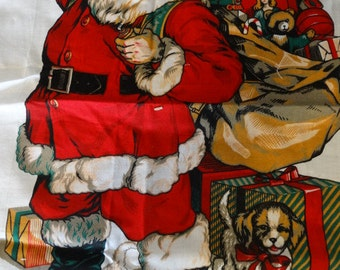 Santa Claus Sequin Applique, Christmas Eve Jacket Decor, Sequins, Beads, Traditional Christmas Fabric Accent, Sewing Accessory