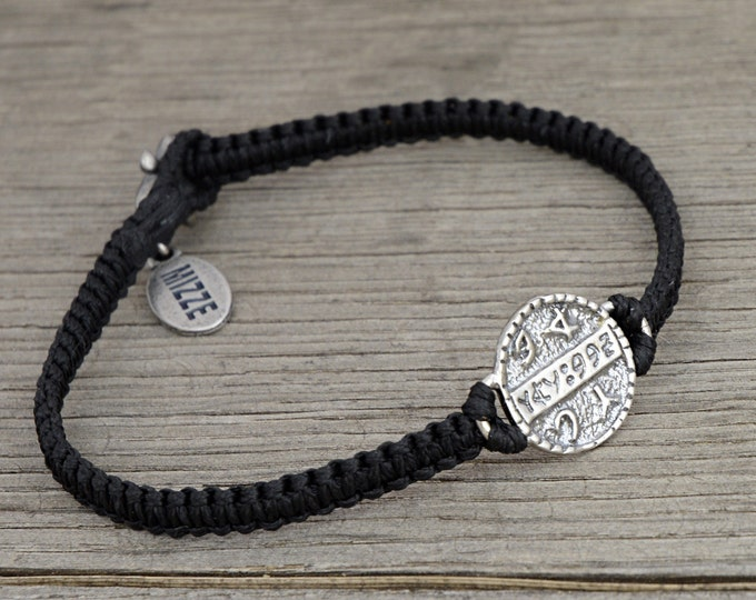 Health Amulet on Hand Woven Black King Solomon Charm Bracelet