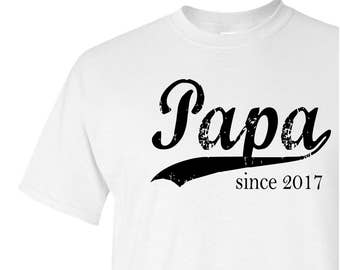 Papa since ANY year - personalized t shirt - new grandfather gift - grandpa to be shirt - papa tshirt - Father's Day gift - graphic tee
