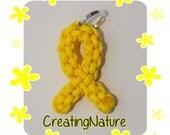 Endometriosis Awareness *Mini* Paracord Ribbon Keychain