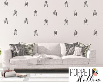 Modern Arrow Wall Decal Collage - Arrow Dash Vinyl Sticker for Bedroom, Great Room, Apartment, College Dorm - LL
