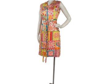 Vintage 60s Dress - 60s Silk Dress - Hong Kong Dress - 60s Pop Art Dress - 60s Psychedelic Dress - Silk Dress - Paisley Dress - Bright Pink