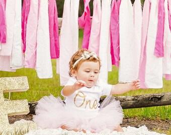 1st Birthday Tutu Skirt, First Birthday Tutu, First Birthday Outfit Girl Tutu, Cake Smash Outfit Girl Tutu, Tulle Skirt, Newborn Tutu, SEWN