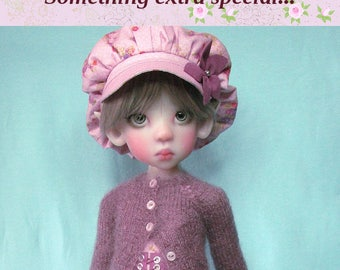 """OOAK  Extra special set for Kaye Wiggs dolls.  """"Sugar Plum"""" outfit.  Fits  MSD (45cm/18"""") body only. Includes shoes."""