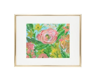 Print-at-Home Digital Print of Original Floral Painting