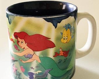 Vintage Disney The Little Mermaid Mug