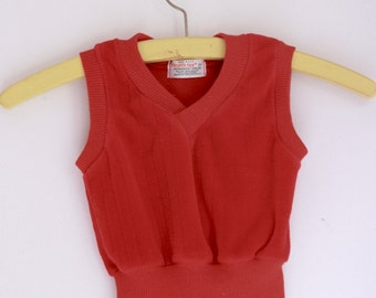 Vintage Healthtex red velour vest for toddlers 12 to 18 months