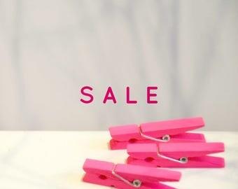 Medium Hot Pink Pegs {5}   Pink Pegs   Medium Wood Pegs   Baby Shower   Easter Gift Wrap SALE