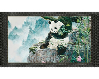 Imperial Panda Quilting Treasures Fabric Panel