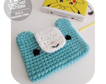 crochet pattern - 3ds xl case - 3ds xl sleeve - crochet 3ds sleeve - nintendo 3ds xl - animal case - kawaii bear