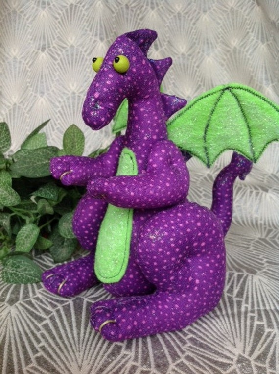Mailed Cloth Doll sewing pattern Cute little Dragon