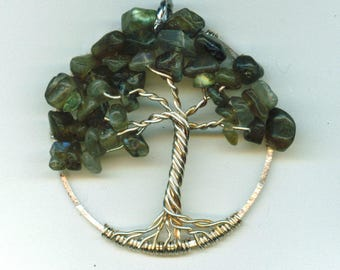 Labradorite Pendant Tree of Life