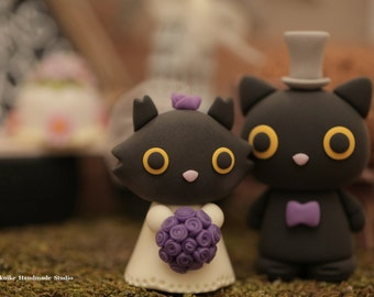 cat and kitty Wedding Cake Topper---k851