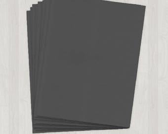 25 Sheets of Cover Stock - Gray, Black and Silver - DIY Invitations - Paper for Weddings & Other Events