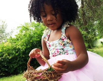 Birdnest Flower Girl Baskets, Eco Conscious Wedding, Flower Girl Basket, English Ivy, LBN