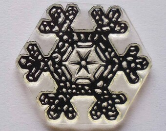 Snowflake 2017 clear art stamp by TJSD