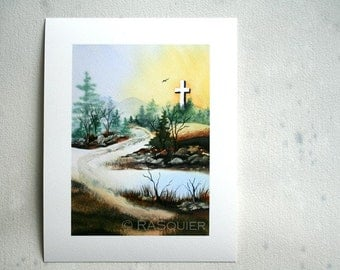 PRINT Viola's Cross a Giclée Fine Art Print 5x7 inches