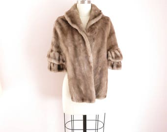 Vintage Faux Fur Wrap Stole Fits Most