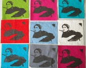 Hand Printed Kurt Cobain Nirvana Punk Patches Eight Colors Available Grunge