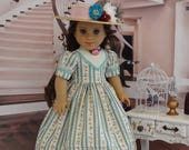 Meadow Pond - Victorian dress for American Girl doll with undergarments