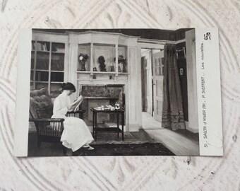 Vintage French and German Postcard P. Sieffert Les Nouvelles 51 Salon d' Hiver 1911 Paper Ephemera Scrapbooking Mixed Media Craft Supplies