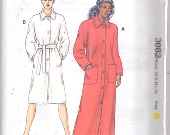 Kwik Sew 3082 Misses Button Front Robe Pattern 2 Lengths Womens Sewing Pattern Size xs s m l xl  Bust 31 - 45 UNCUT