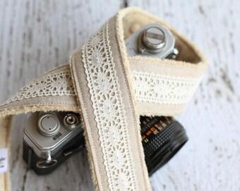Camera Strap. Linen and Lace Camera Strap. dSLR Camera Strap. Custom Camera Strap. Padded Camera Strap. Camera Straps. Camera Neck Strap.