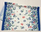 Vintage Towel Gorgeous Garden of Colorful Wildflowers