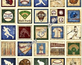 Baseball Quilt Panel Etsy