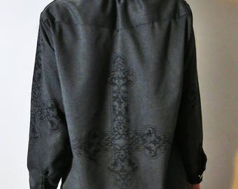 Hell Couture Kruzifixx Button Up Shirt