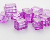 Light Purple Acrylic Rectangle Beads 15mm (12)