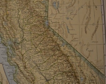 1943 State Map California - Vintage Antique Map Great for Framing
