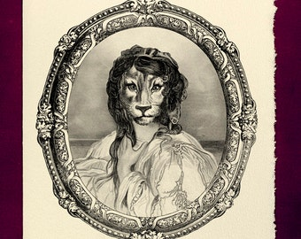 Fabulous - Greeting Card - Victorian illustration talented brilliant gorgeous funny snarky birthday humor gift present lion encouragement