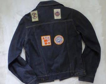 70's Denim Patch Jacket