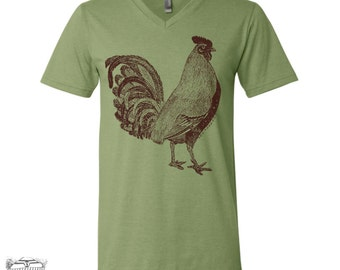 Unisex V-Neck ROOSTER  t shirt (+ Colors) xs s m l xl