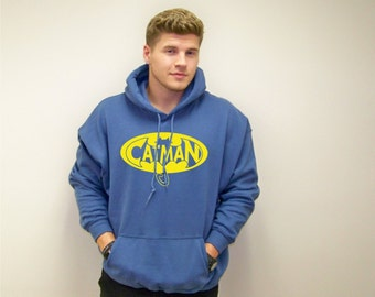 Mens sweatshirt, Funny sweater, Catman, cat man, cat shirt, boyfriend gift, Pullover hoodie, cat sweater, cat lover gift, cats, gift for him
