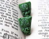 Cthulhu Carving Earrings