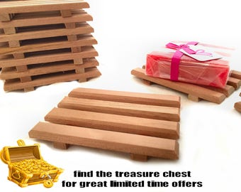 8 aromatic Spanish cedar soap dishes - 1.10 each - Limited Time Treasure Chest Special